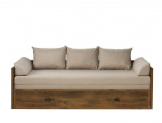 Sofa Bed converts into King Size Bed White Wash Pine Shabby Chic or Oak finish - Indiana (S31-JLOZ80/160-DSU-KPL04)