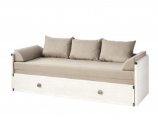 Sofa Bed converts into King Size Bed White Wash Pine Shabby Chic or Oak finish - Indiana