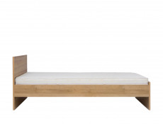 Modern Single Bed Frame in Oak finish - Balder