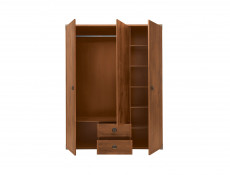 Mirrored Large Wardrobe with Shelves Pine Oak effect - Indiana (JSZF3D2S)