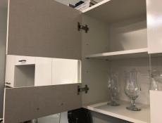 Modern White Gloss/Oak Kitchen Cabinets Cupboards Set of 7 Units with Franke Sink - Junona (K24-JUNONA_MODUL/240-BI/BIP/DCRZ-KPL01+SINK)