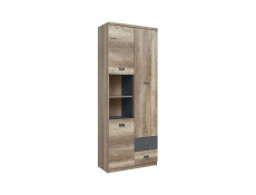 Urban 280cm Home Office Furniture Set 4 Units Study Children's Room Oak Effect and Grey Finish - Malcolm