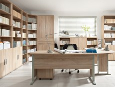 BRW OFFICE -  Bookcase Shelf Cabinet