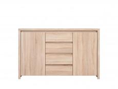 Modern Large Sideboard Dresser Cabinet Storage Drawers Sonoma Oak - Kaspian (S128-KOM2D4S-DSO/DSO-KPL01)