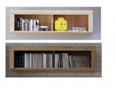 Modern 120cm Wall Mounted Storage Display Unit Shelf with Compartments Riviera Oak Effect - Balder (S382-SFW/120-DRI-KPL01)