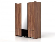 Venom -  Three Door Wardrobe Black Gloss (SZF5D2S)