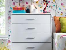 Chest of Drawers Modern Storage Unit Wenge, White or Sonoma Oak Finish- Nepo