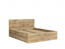 Modern Oak Finish Ottoman King Size Bed Frame with Gas Lift Up Storage Compartment in Oak Wotan - Tetrix