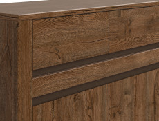 Classic Narrow Sideboard Dresser Cabinet Unit with 2 Drawers Dark Oak/Grey - Kada (S404-KOM2D2S-DARL-KPL01)