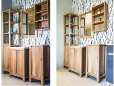 Classic Wall Mounted Bathroom Shelf Cabinet Unit Oak 40cm - Classic Oak