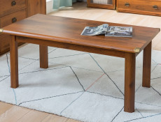 Cottage Style 120cm Large Coffee Side Table Occasional Table in Dark Oak Effect Finish - Indiana (S31-JLAW120-DSU-KPL01)