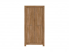 Modern Oak effect Double Wardrobe - Gent (SZF2D/20/10)