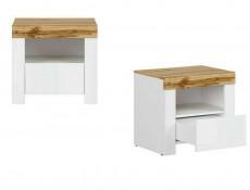 Scandinavian Bedside Cabinet Drawer White Oak Bedroom Storage - Holten (S440-KOM1S-BI / DWO / BIP)