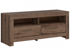 TV Cabinet Stand Unit with Drawers Oak - Balin