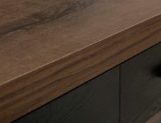 Modern Coffee Table Rectangular with 2 Drawers Oak/Black - Balin