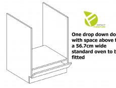 Light Dove Grey Gloss Kitchen Cabinet 60cm Oven Housing Free Standing 600 Unit - Luna