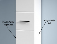 Wall Cabinet White Gloss or Oak - Fever