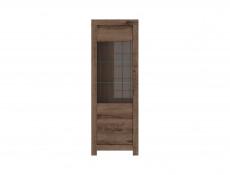 Tall Glass Display Cabinet With LED Light - Balin (S365-REG1W-DMON-KPL01)