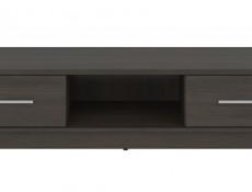 Two Drawer TV Cabinet Modern Living Room Wenge, White or Sonoma Oak Finish - Nepo