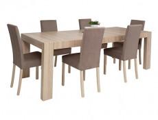 Modern Fabric Dining Chair in Oak - Kaspian