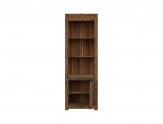 Classic Tall Bookcase Storage Display Cabinet Shelving Unit Dark Oak/Grey - Kada