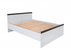 King Size Bed White Wash Wood Effect - Porto (LOZ/160)