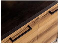 Modern Light Delano Oak/White Gloss Kitchen Cabinets Cupboards Set of 7 Units with Franke Sink - Junona
