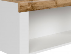 Scandinavian Wall Mounted Display Cabinet Shelf Bookshelf Storage Panel White/Oak - Holten