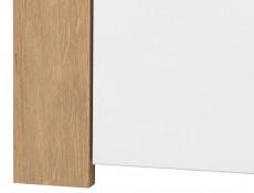 White Gloss & Oak Effect Modern Living Room 3 Item Furniture Set Storage Display TV Units with LED Light - Balder
