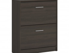 Slim Shoe Cabinet Hallway Entrance Hall Wenge, White or Sonoma Oak Finish- Nepo (S435-SFB2K2-WE-KPL01)