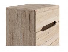 Compact Slim Five Drawer Tallboy Storage Narrow Chest of Drawers in Light Oak Effect Finish - Elpasso (S314-KOM5S/60-DSAJ/DWB-KPL01)