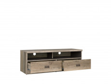 Urban TV Stand Cabinet Unit with Drawers 120cm Media Table Oak/Grey - Malcolm