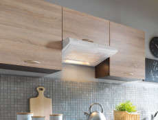 Modern Kitchen Wall Cabinet 800 Cupboard 80cm 2-Door Unit Wenge/Sonoma Oak - Junona (K22-G2D/80/57-WE/DSO-KPL01)