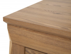 Traditional Bedside Cabinet Side Table with Drawer in Oak finish - Bergen (S359-KOM1S-MSZ-KPL01)