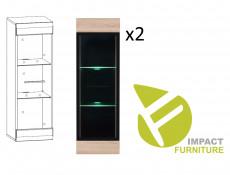 Modern 8-Piece Furniture Living Room Set Storage Cabinet Units Sonoma Oak - Fever (S182-FEVER_SET1-DSO/CA-KPL01)
