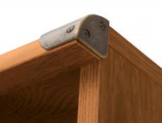 Modern Oak Effect Finish Office Furniture 6 Item Set: Desk, Sideboard and 4 Bookcases - Indiana (S31-INDIANA-OFF-SET)
