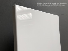 White High Gloss End Panel for Kitchen Base Units Plant On Style H 87cm W 60cm - Antila