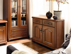 Large Chest of Drawers Classic Style Traditional Bedroom Furniture Cherry Finish - Natalia