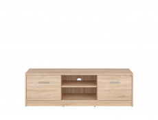 Modern Two Door TV Cabinet Stand Unit Two Door Wenge, White or Sonoma Oak Finish - Nepo
