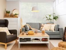 Modern Scandinavian White Gloss & Oak finish Large Chest of Drawers Bedroom Hallway Storage Unit - Holten (S440-KOM6S/A-BI/DWO/BIP-KPL01)