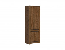 Classic Tall Bookcase 2-Door Storage Cabinet Unit Dark Oak/Grey - Kada (S404-REG2D-DARL-KPL01)