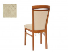 Traditional Dining Chair Solid Wood Cherry Cream fabric - Natalia