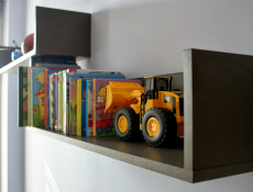 Wall Mounted Shelf Floating Modern - Graphic