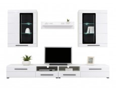 Living Room Furniture Set White Gloss - Argus
