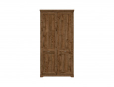 Classic Two Door Wardrobe Classic Bedroom Storage Dark Oak - Patras (S405-SZF2D-DARL)
