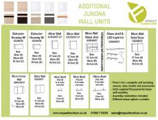 Modern Kitchen Wall Cabinet 500 Cupboard 50cm Unit Wenge/Sonoma Oak - Junona (K22-G1D/50/57_LP-WE/DSO-KPL01)