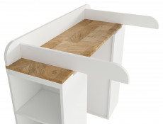Modern Country Removable Baby Changing Table Dresser Unit White/Oak - Dreviso Baby (S378-PRK-BI/DWM)