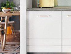 Free Standing White/Light Grey Kitchen Cabinet Cupboard Base Unit 60cm - Paula (STO-PAULA-D60-P/L-GR/WHITE-KP01)