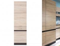 Modern Tall Larder Kitchen Cabinet Pantry 500 Cupboard Unit 50cm Right Wenge/Sonoma Oak - Junona (K22-D2D/50/195_P-WE/DSO/WE)