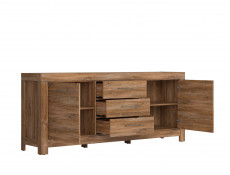 Extra Large Sideboard Dresser Cabinet Oak effect Contemporary - Gent (KOM2D3S/9/20)